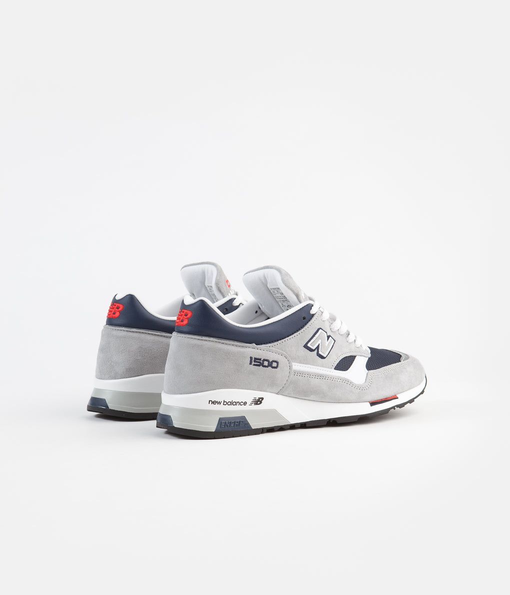 New Balance 1500 Made in UK Shoes - Grey / Navy / Red