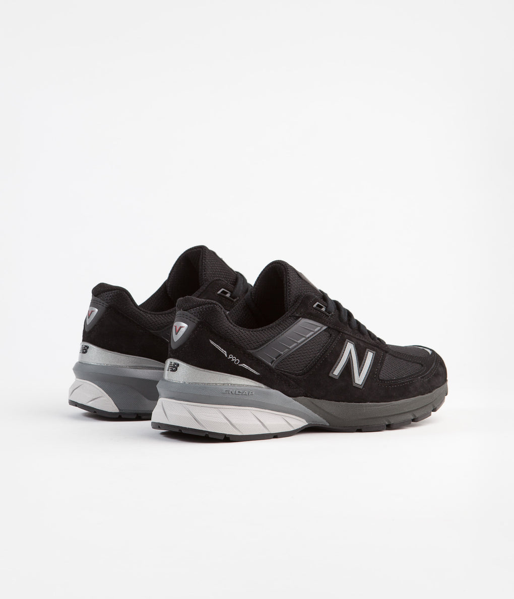 New Balance 990 v5 Made In US Shoes - Black / Silver
