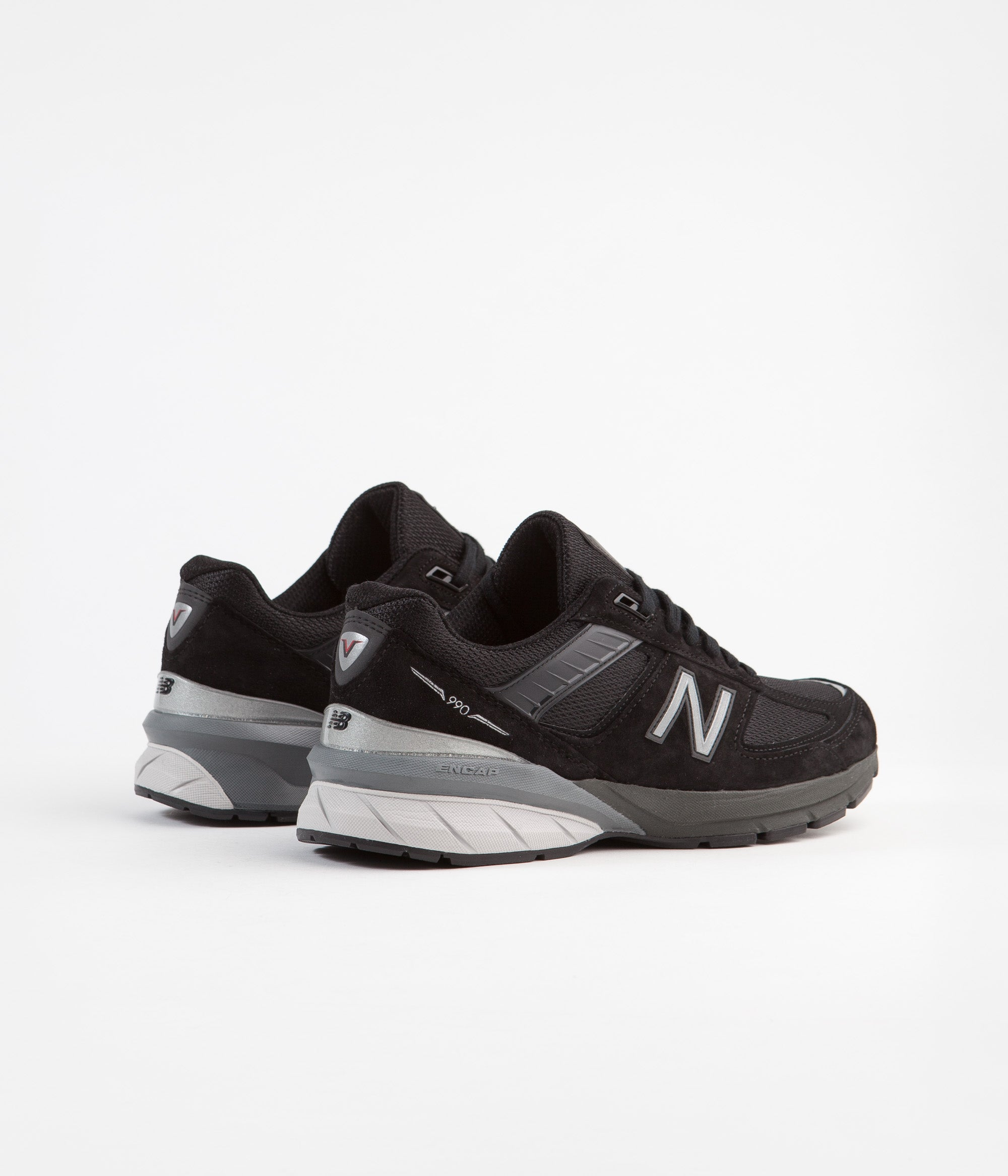 info for 4b690 dae70 New Balance 990 v5 Made In US Shoes - Black / Silver ...