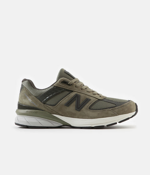 New Balance 990v5 Made In US Shoes - Covert Green / Green Camo