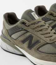 New Balance 990v5 Made In US Shoes - Covert Green / Green ...