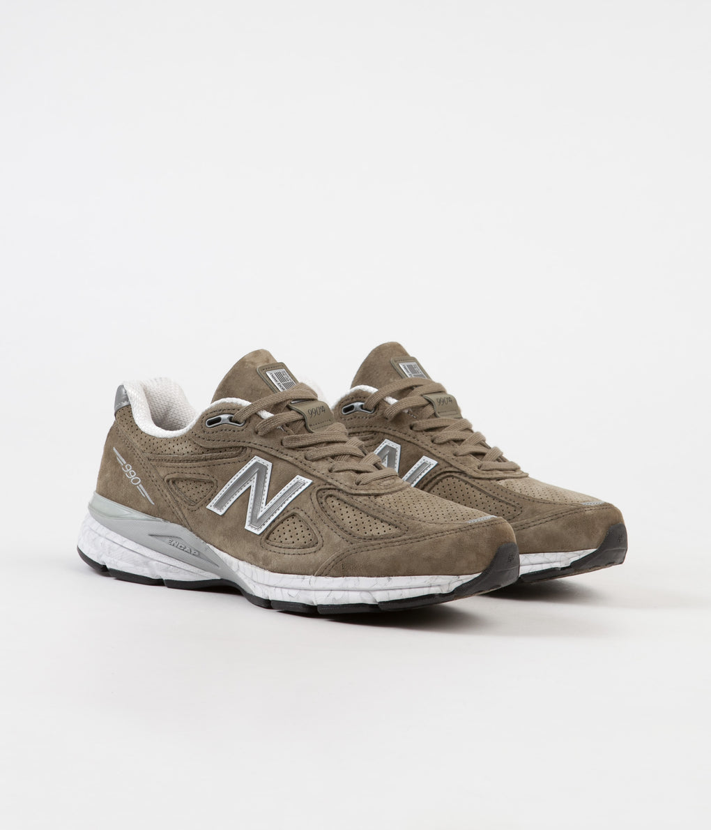 New Balance M990V4 Made In US Shoes - Covert Green