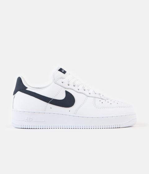 Nike Air Force 1 '07 Craft Shoes - White / Obsidian - White
