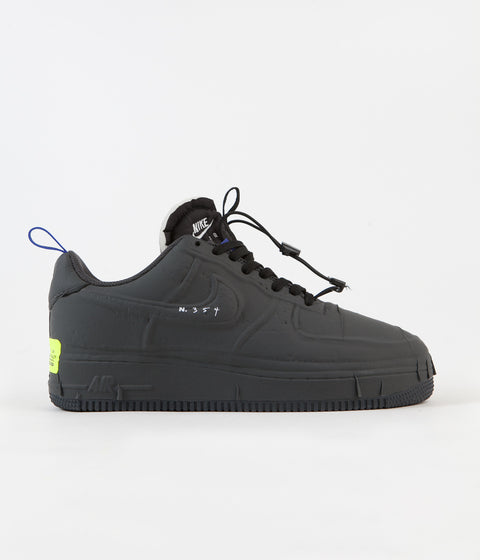Nike Air Force 1 Experimental Shoes - Black / Anthracite - Chile Red - Hyper Royal