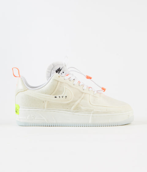 Nike Air Force 1 Experimental Shoes - White / Sail - Atomic Orange - Black