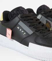 Nike Air Force 1 Type Shoes - Black / Anthracite - Zinnia - Pink Tint