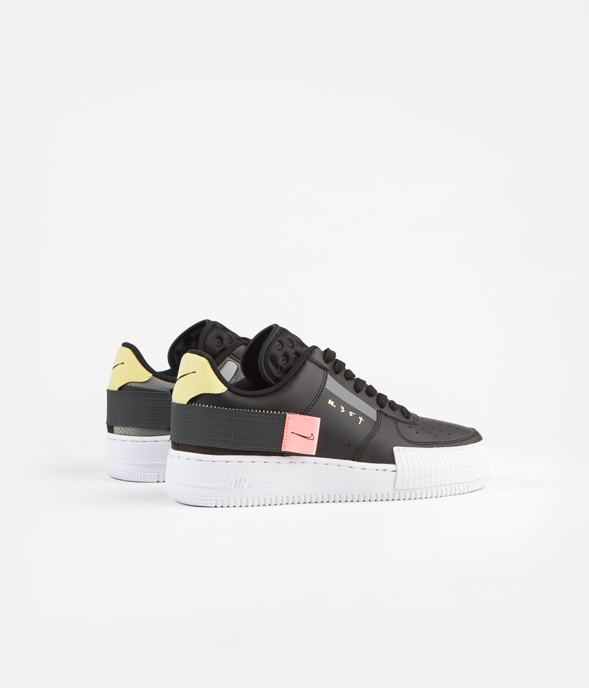 Nike Air Force 1 Type Shoes Black Anthracite Zinnia