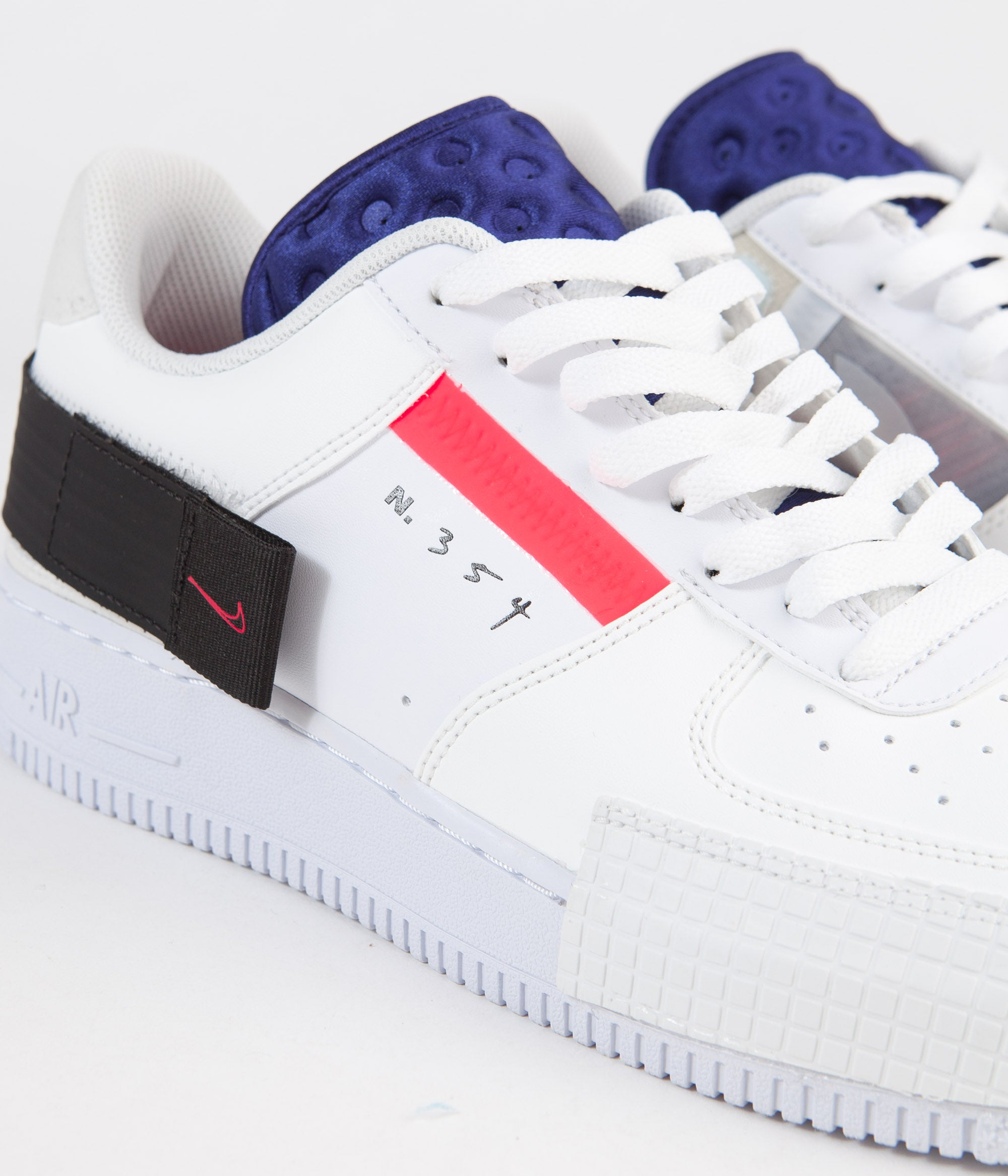 Nike Air Force 1 Type Shoes Summit White Red Orbit
