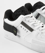 Nike Air Force 1 Type Shoes - White / Volt - Black - White