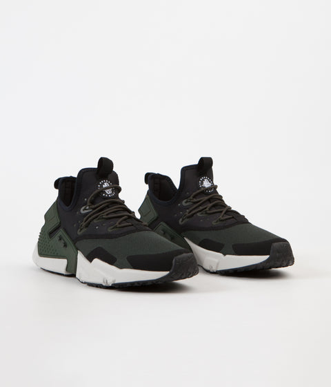 Nike Air Huarache Drift Shoes - Sequoia / Light Bone - Black - White