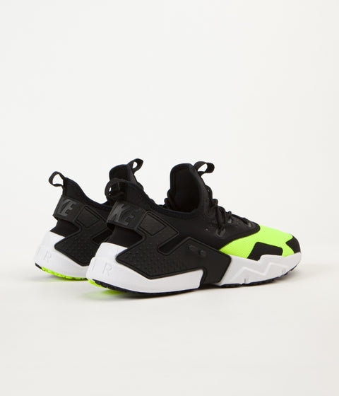 Nike Air Huarache Drift Shoes - Volt / Black - White