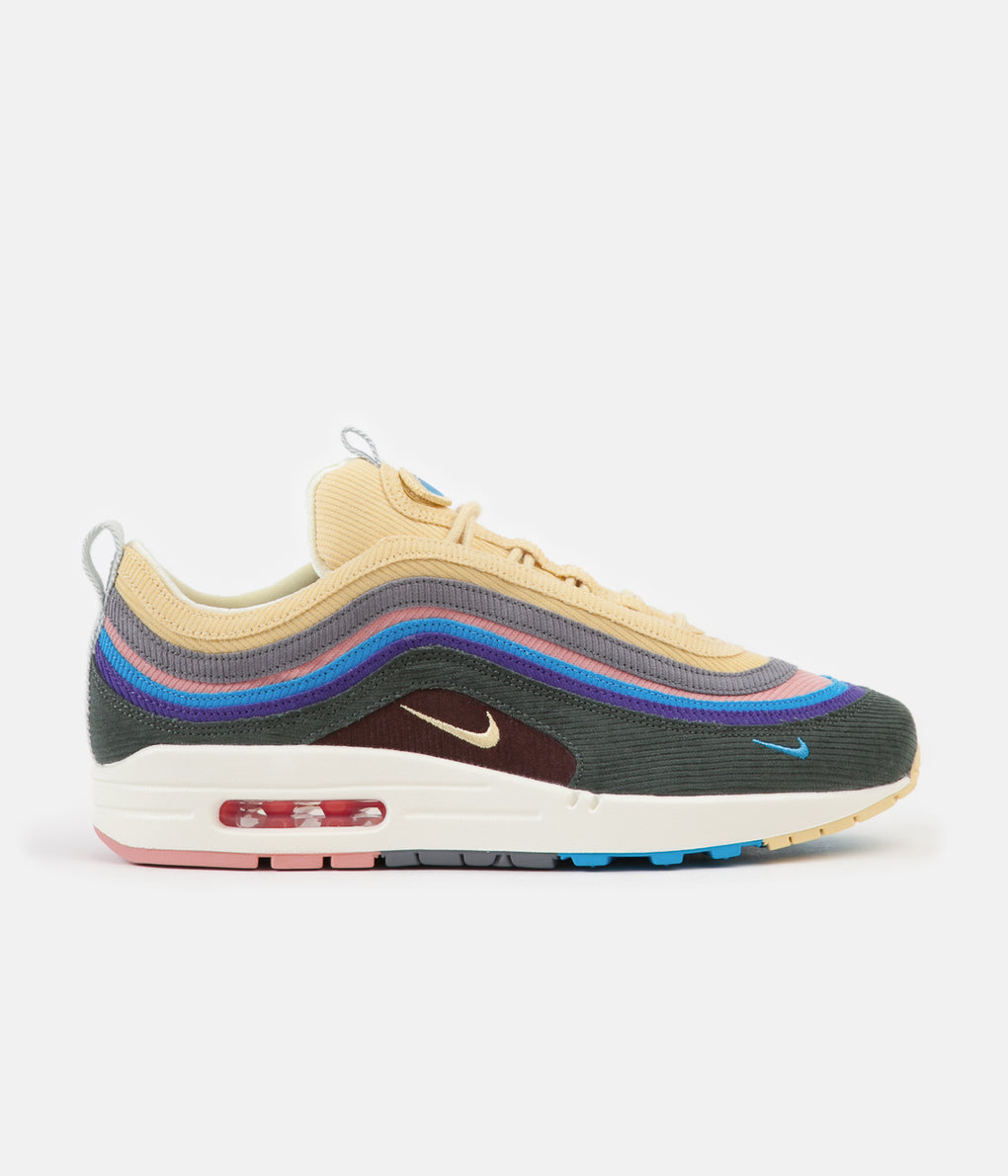 Nike Air Max 1/97 VF Sean Wotherspoon Shoes - Light Blue Fury / Lemon Wash - Vintage Green