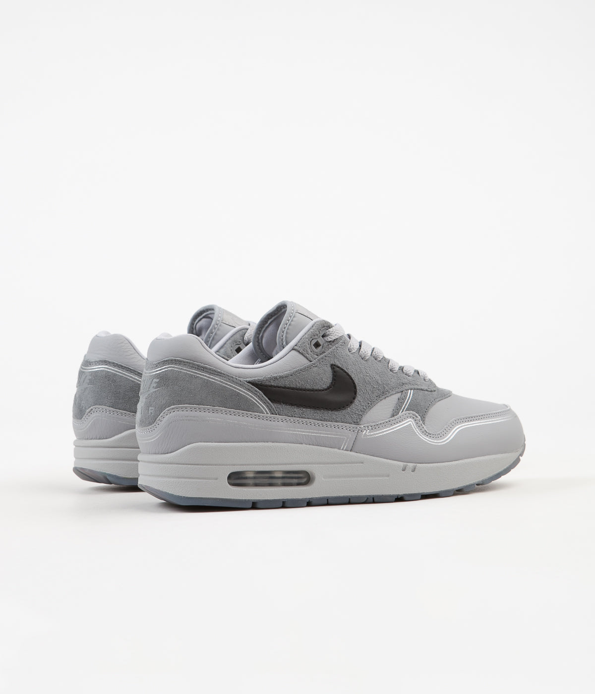 sports shoes 7321d b7a0e ... Nike Air Max 1 Centre Pompidou Shoes - Wolf Grey   Black - Cool Grey ...