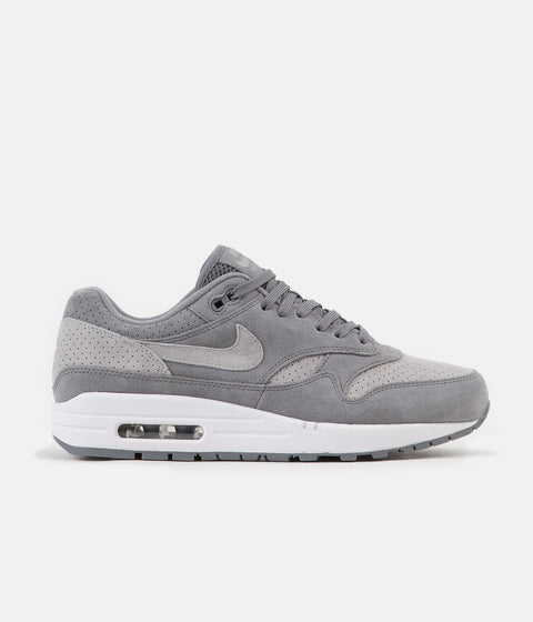 Nike Air Max 1 Premium Shoes - Cool Grey / Wolf Grey - White