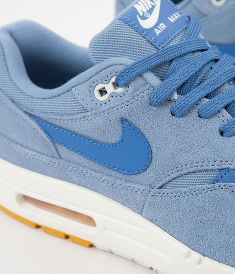 7508bec94bb5 ... Nike Air Max 1 Premium Shoes - Work Blue   Mountain Blue - Yellow Ochre  ...