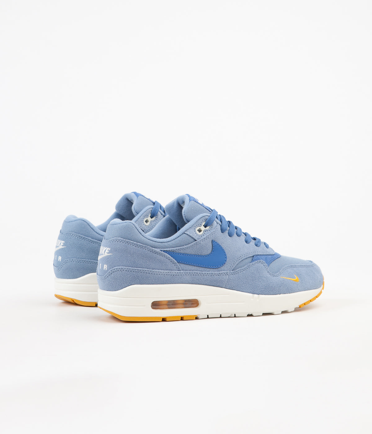 Nike Air Max 1 Premium Shoes Work Blue Mountain Blue