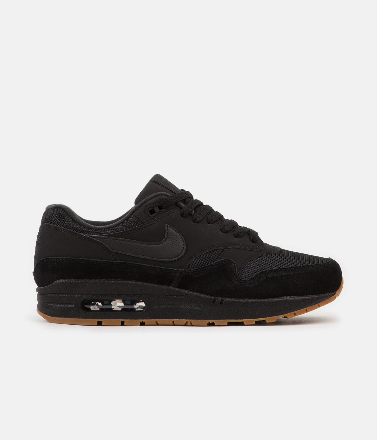 new product f3a58 e22a8 ... Nike Air Max 1 Shoes - Black  Black - Black - Gum Med Brown ...