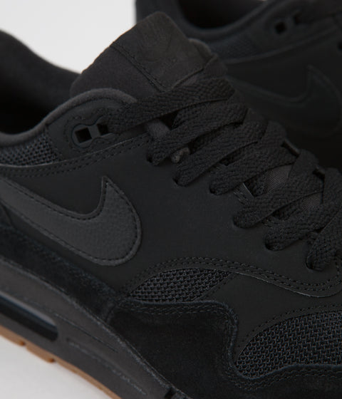 new product 8f16c ba1c1 ... Nike Air Max 1 Shoes - Black   Black - Black - Gum Med Brown ...