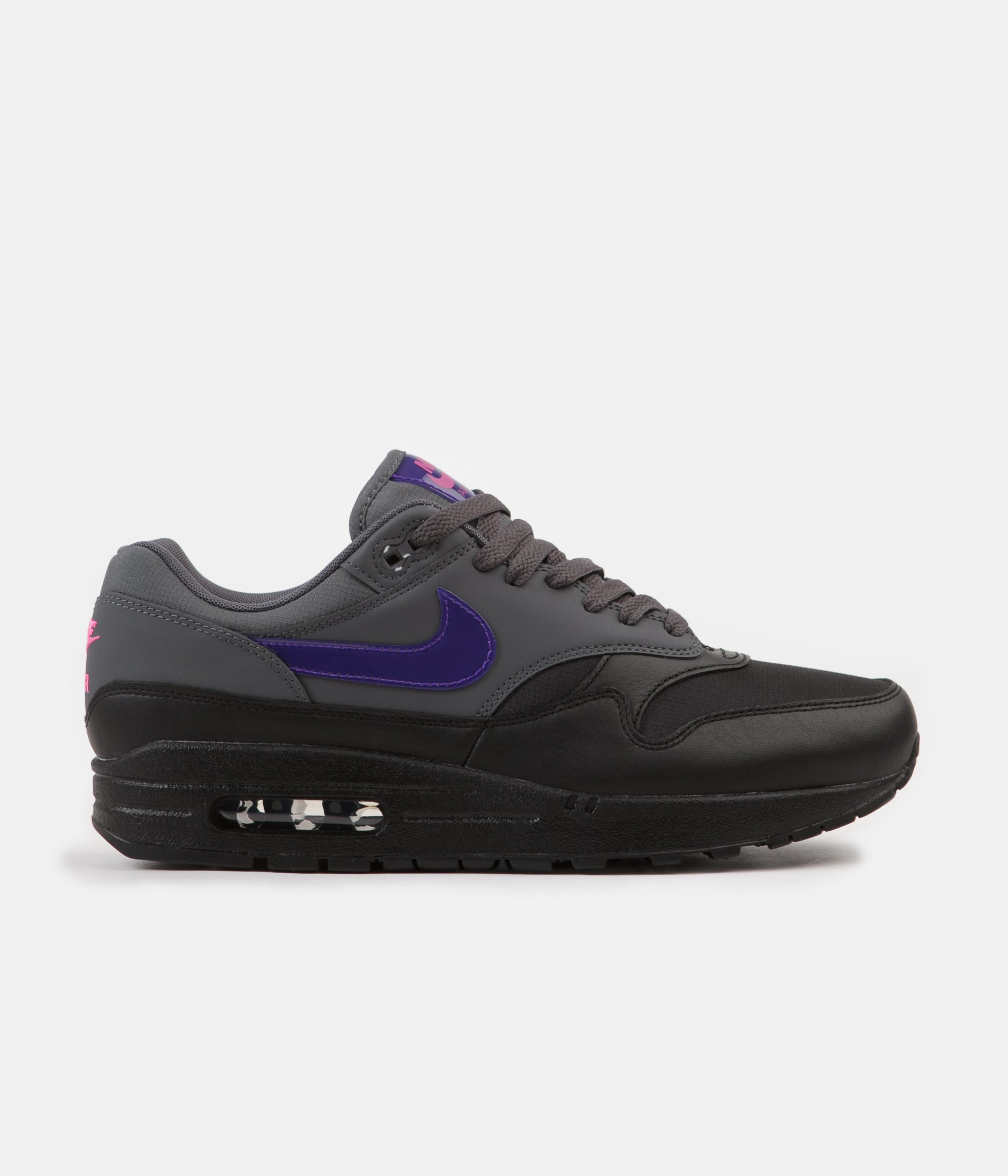 differently 6eb32 82ba7 ... Nike Air Max 1 Shoes - Dark Grey  Fierce Purple - Black - Pink Blast  ...