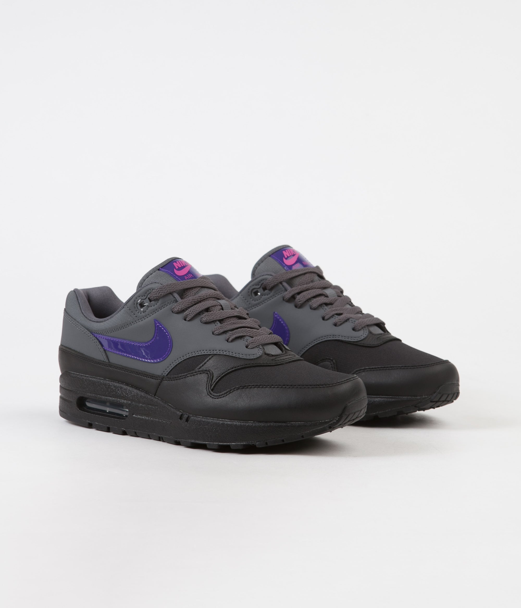 2634631294 ... Nike Air Max 1 Shoes - Dark Grey / Fierce Purple - Black - Pink Blast  ...