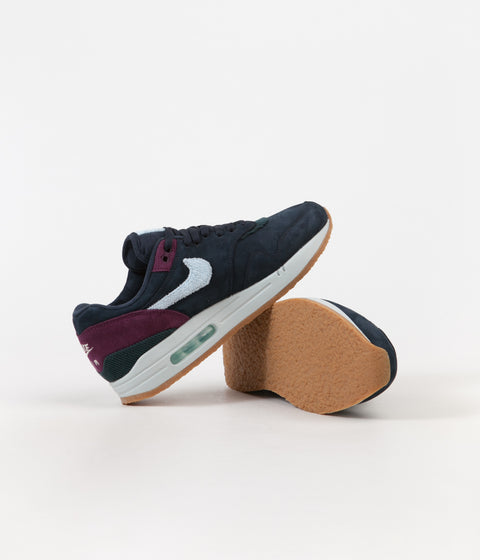 Nike Air Max 1 Shoes - Dark Obsidian / Cobalt Tint - Ocean Bliss