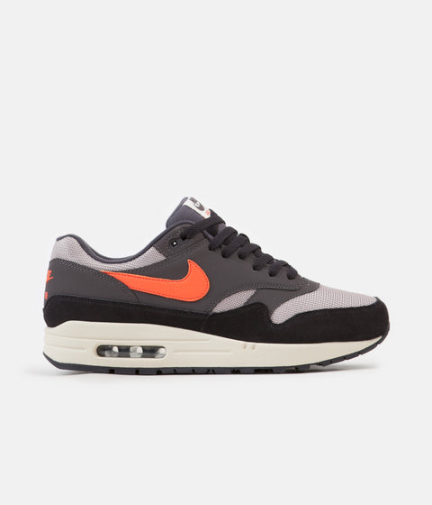 Nike Air Max 1 Shoes - Oil Grey / Wild Mango - Thunder Grey