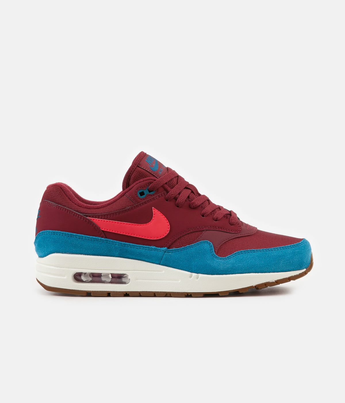 c3b94e0c53c08 ... Nike Air Max 1 Shoes - Team Red   Red Orbit - Green Abyss - White ...