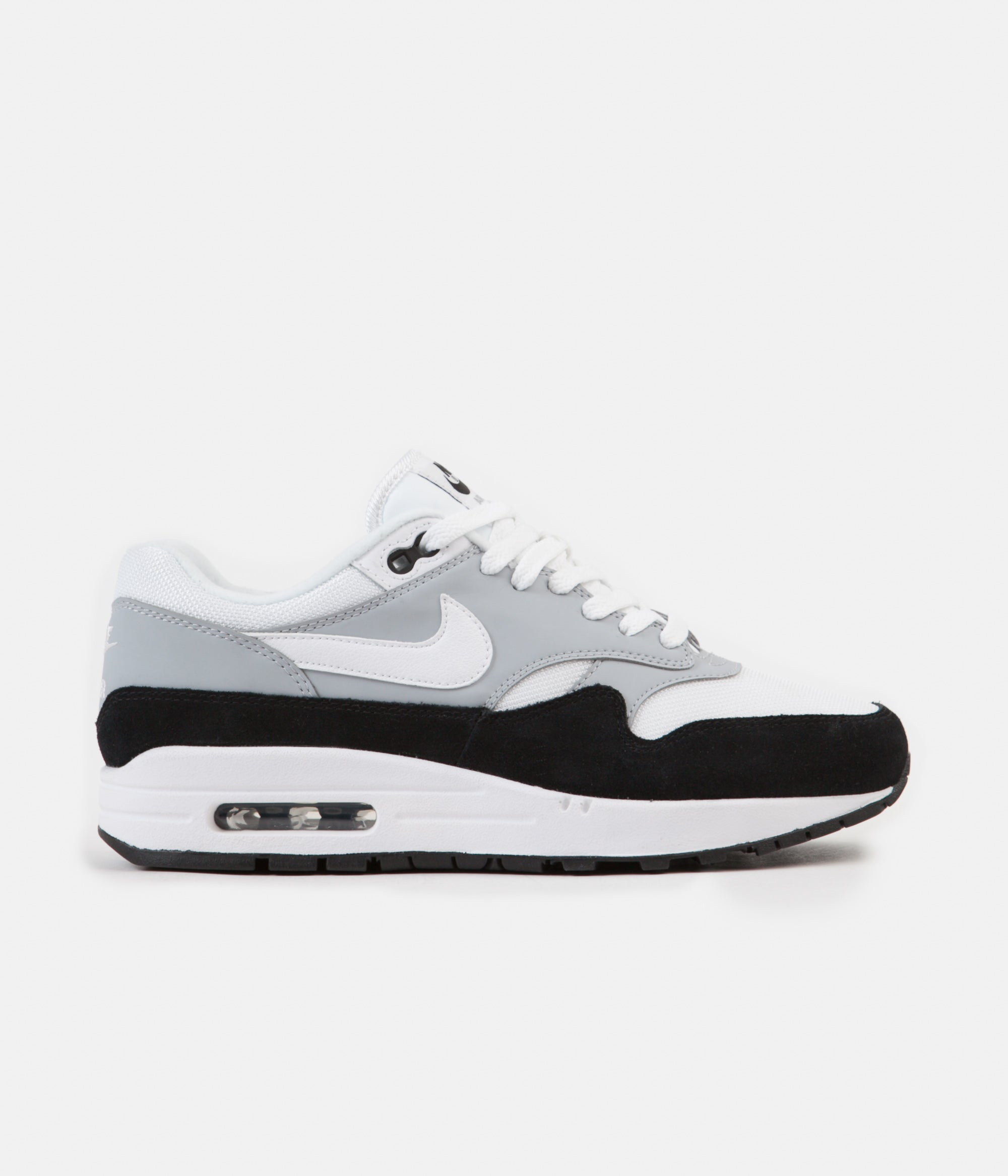 best sneakers 917c7 1e861 ... Nike Air Max 1 Shoes - Wolf Grey   White - Black ...