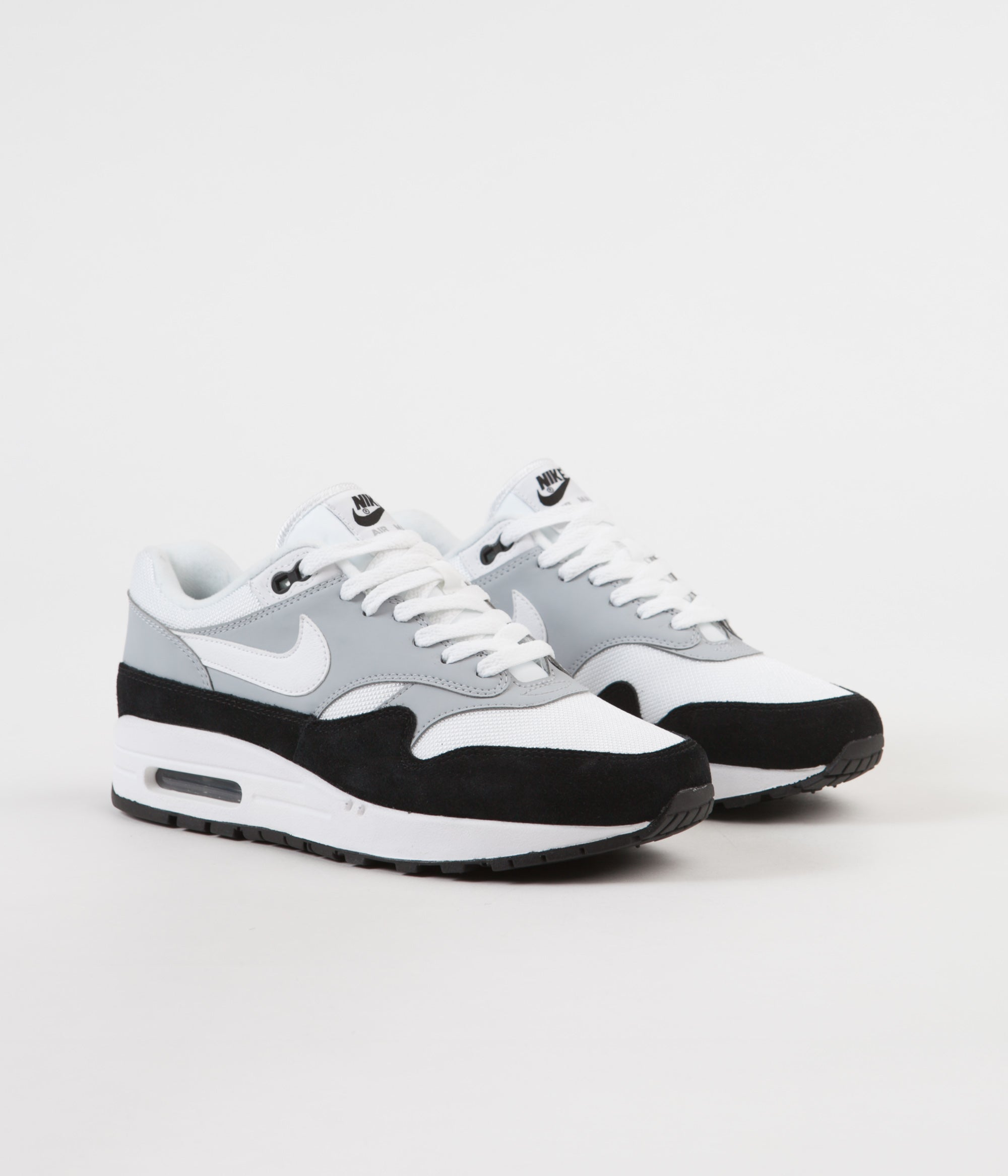 best sneakers ec85f b1cd9 ... Nike Air Max 1 Shoes - Wolf Grey   White - Black ...
