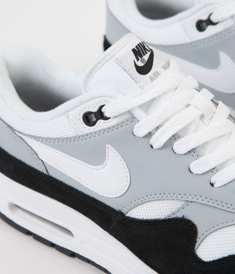 Nike Air Max 1 Shoes - Wolf Grey / White - Black