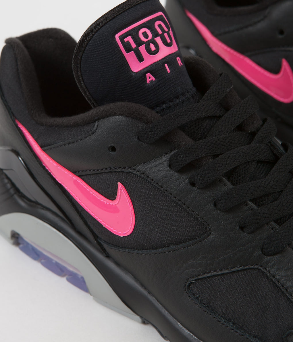 Nike Air Max 180 Shoes - Black / Pink Blast - Wolf Grey