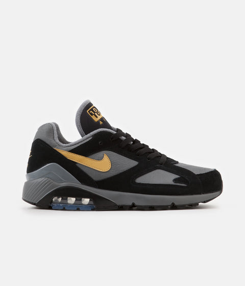 Nike Air Max 180 Shoes - Cool Grey / Wheat Gold - Black