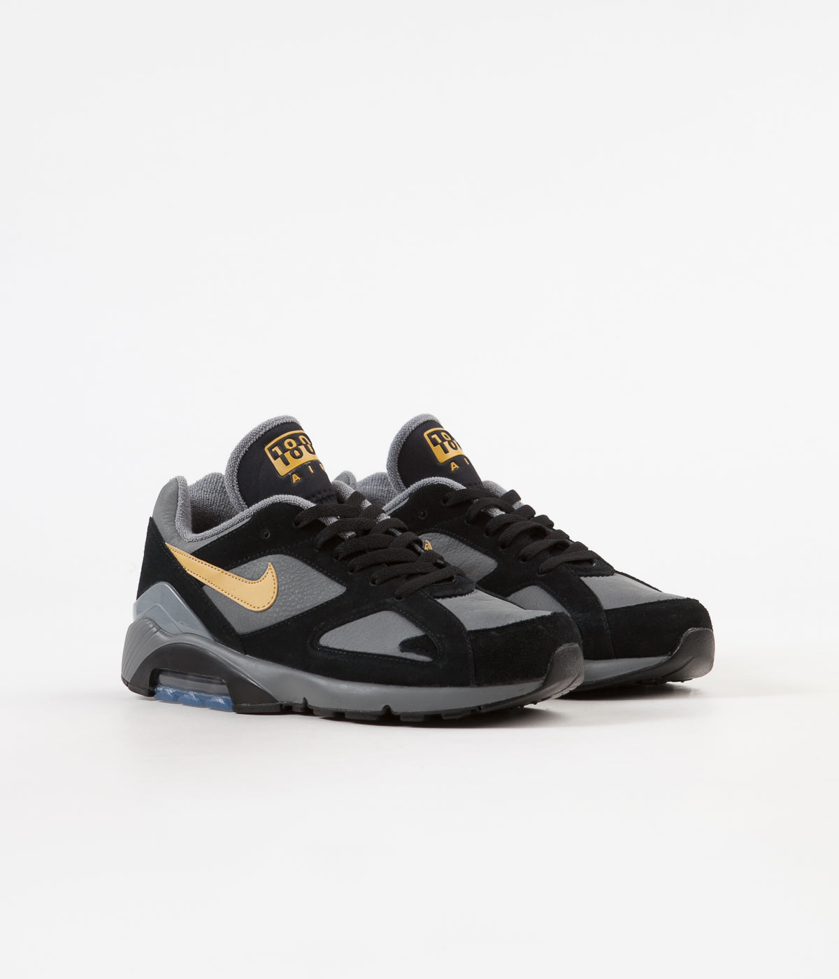 Nike Air Max 180 Shoes Cool Grey Wheat Gold Black