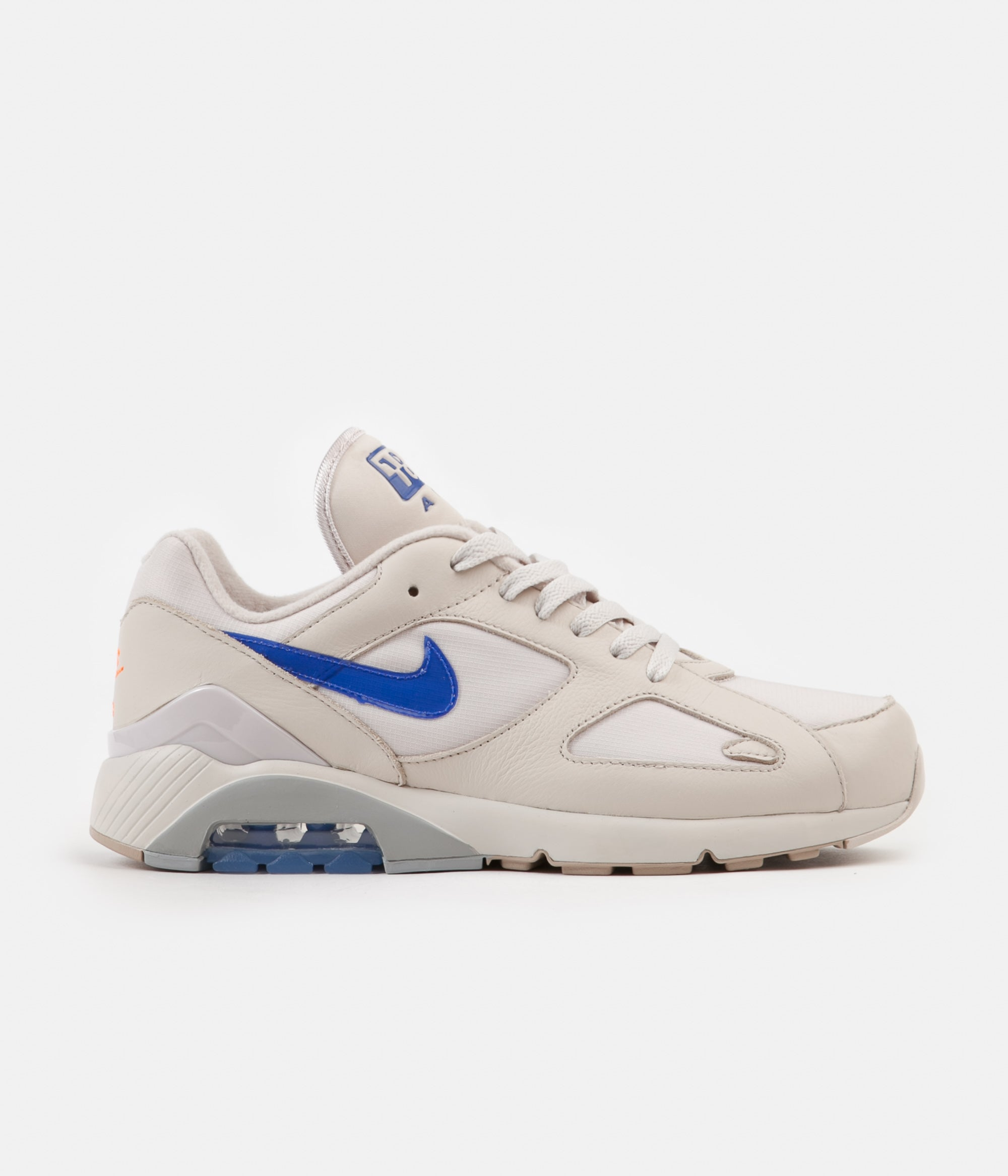 Suelto vestido Hacia atrás  Nike Air Max 180 Shoes - Desert Sand / Racer Blue - Total Orange | Always  in Colour
