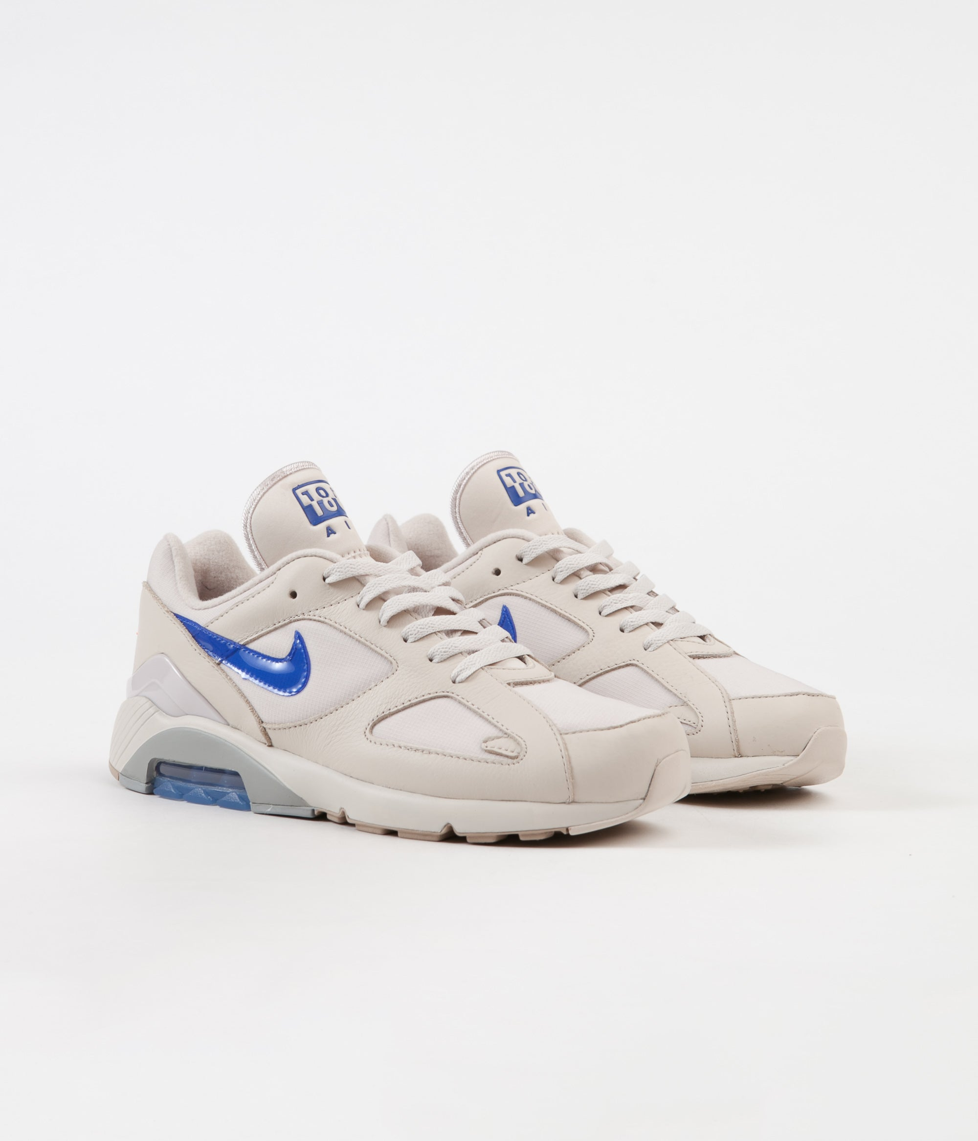 newest collection 390a9 50795 ... Nike Air Max 180 Shoes - Desert Sand  Racer Blue - Total Orange ...