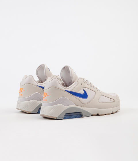 Nike Air Max 180 Shoes - Desert Sand / Racer Blue - Total Orange