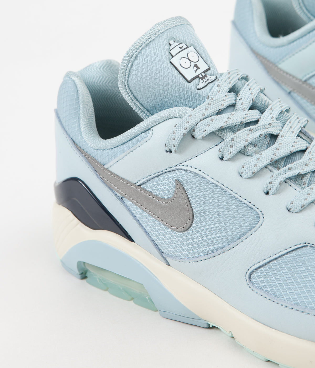 separation shoes 04f30 52d0f ... Nike Air Max 180 Shoes - Ocean Bliss   Metallic Silver - Igloo ...
