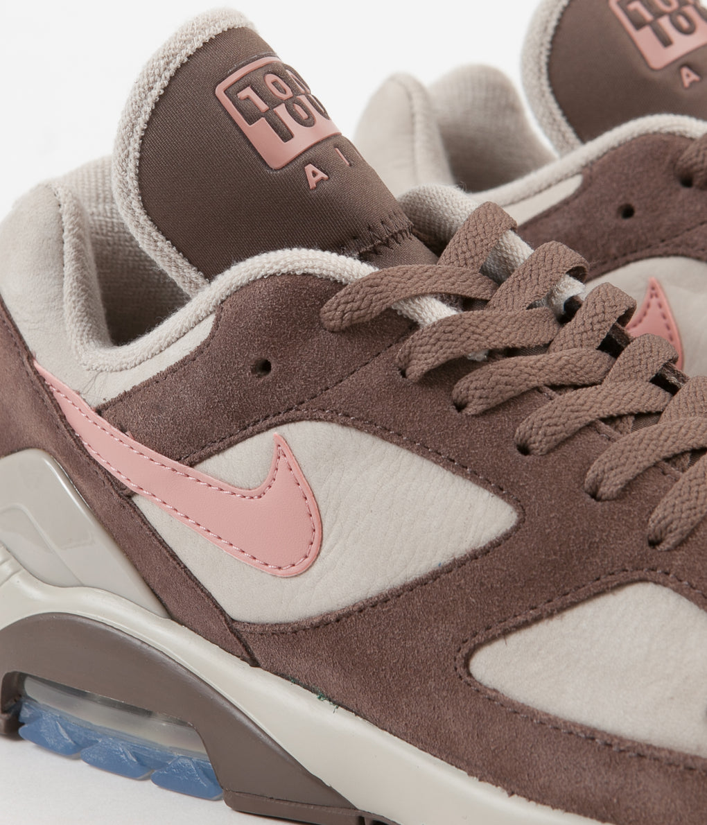Nike Air Max 180 Shoes - String / Rust Pink - Baroque Brown