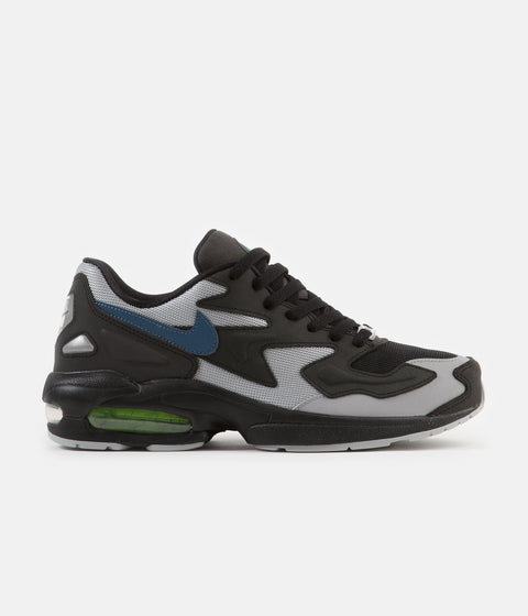 new styles a70bf 2ceca Nike Air Max 2 Light Shoes - Black   Thunderstorm - Wolf Grey - Volt