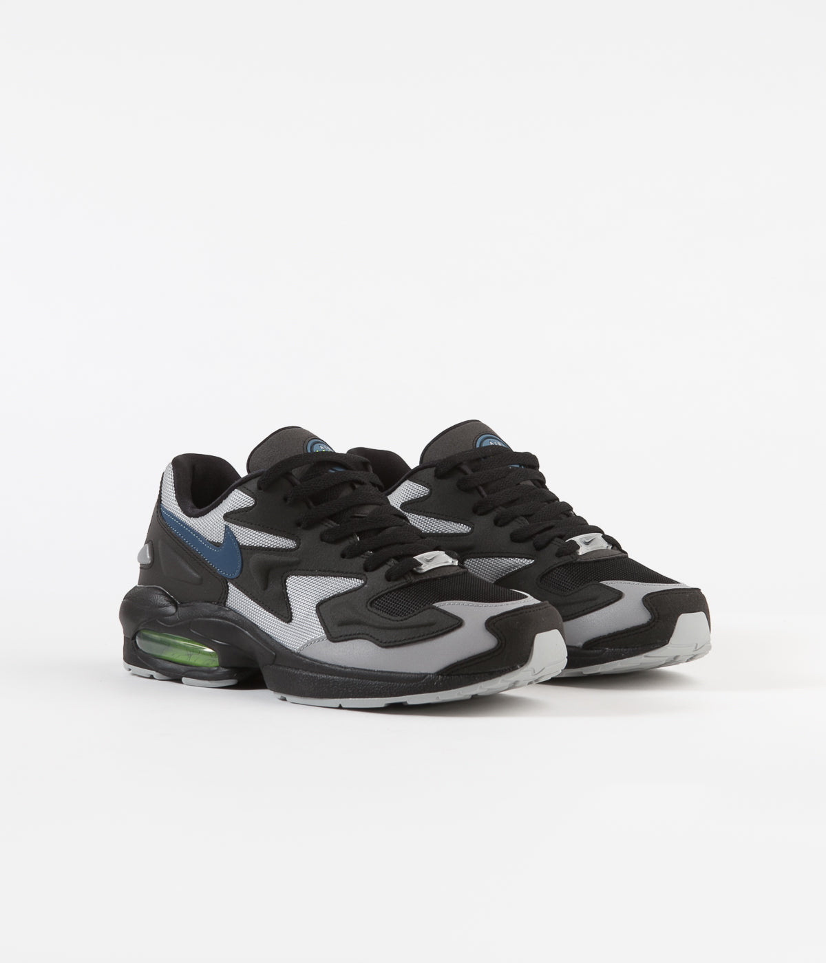 lowest price 681b9 1ca61 ... Nike Air Max 2 Light Shoes - Black   Thunderstorm - Wolf Grey - Volt ...