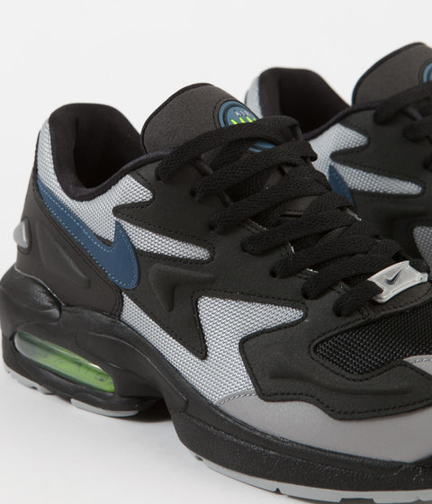 lowest price cbb94 1a1eb ... Nike Air Max 2 Light Shoes - Black   Thunderstorm - Wolf Grey - Volt ...