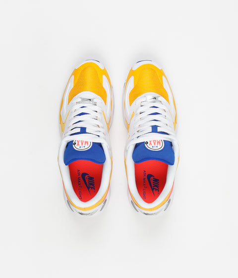 53165c8e17 ... Nike Air Max 2 Light Shoes - University Gold / Flash Crimson - Racer  Blue ...