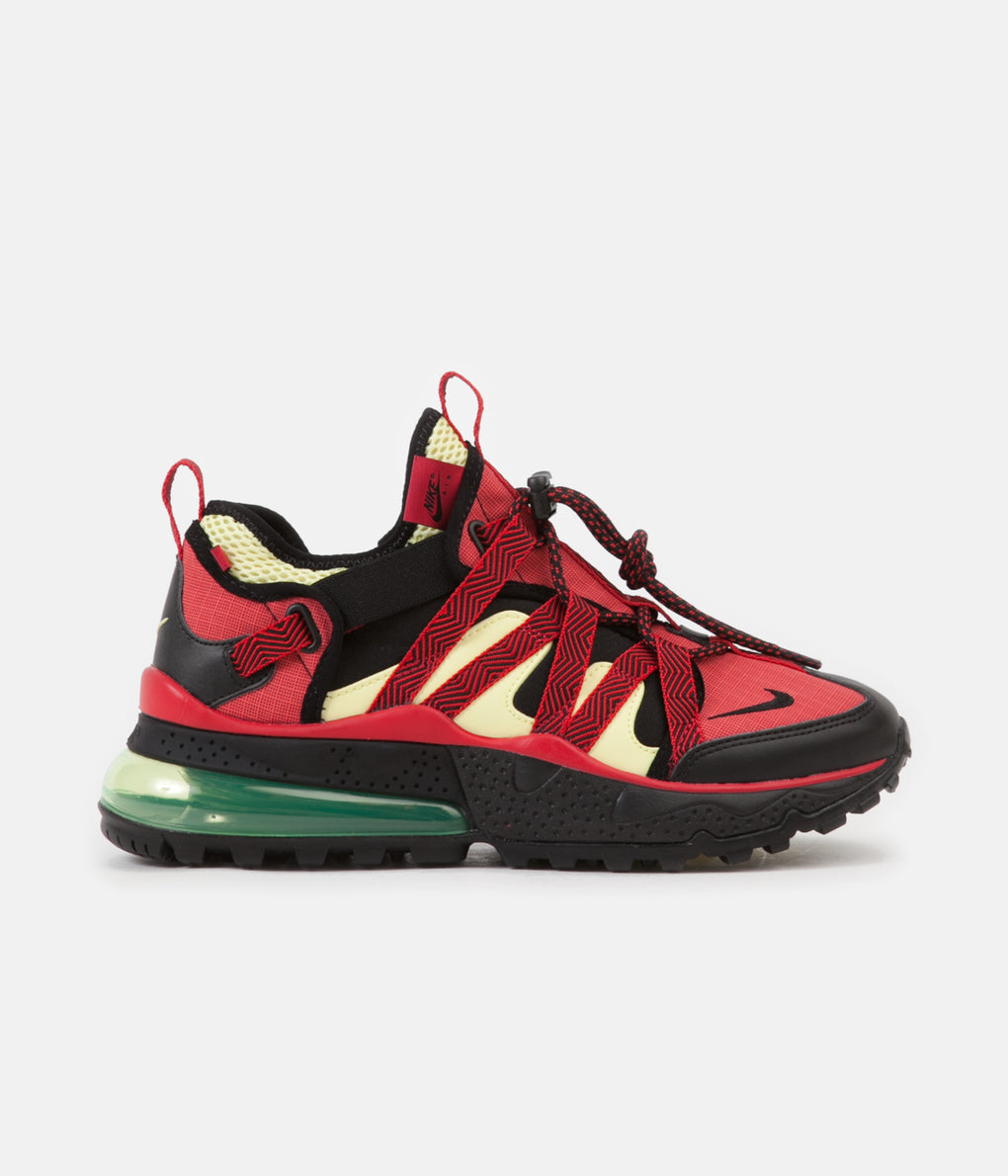 Nike Air Max 270 Bowfin Shoes - Black / Black - University Red - Light Zitron