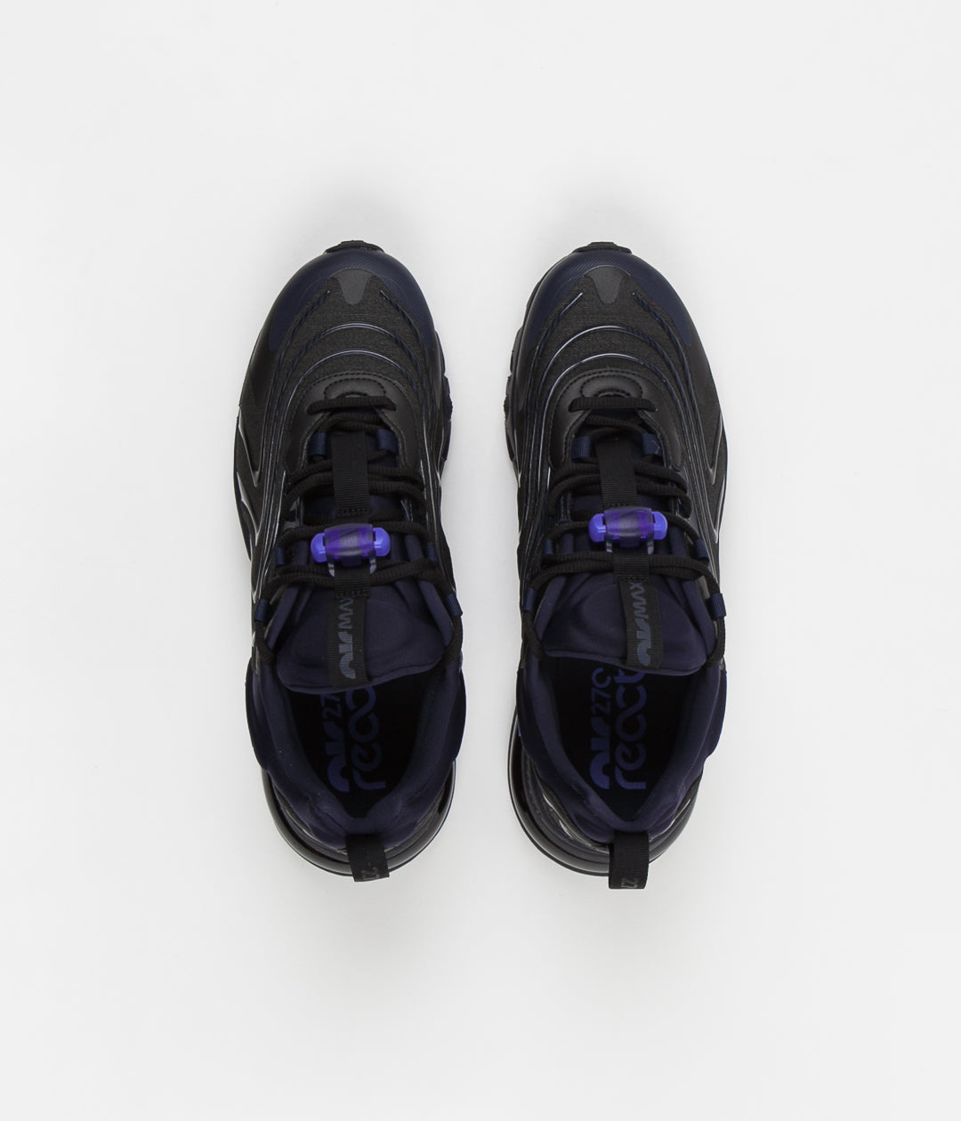 Nike Air Max 270 React Eng Shoes Black Sapphire Obsidian Always In Colour