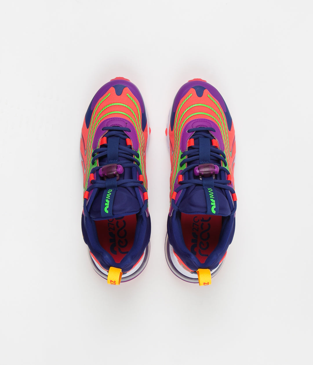 Nike Air Max 270 React Eng Shoes Laser Crimson Laser Orange Always In Colour