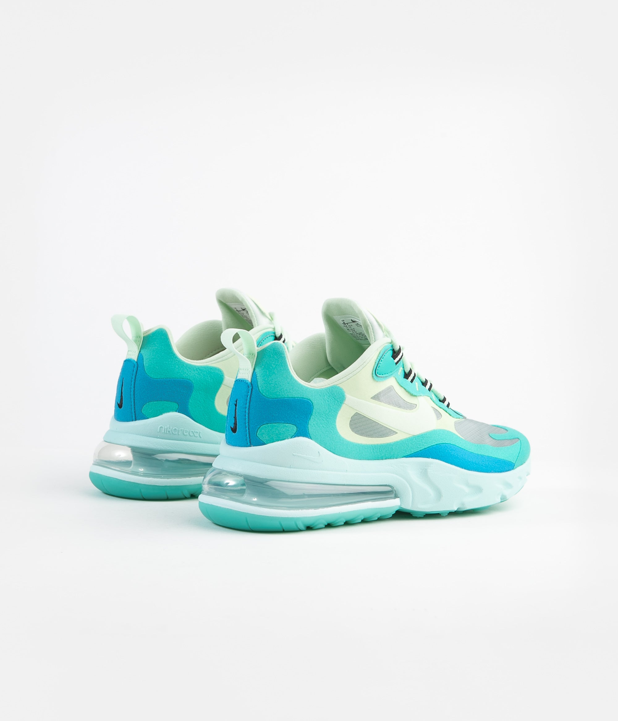 Nike Air Max 270 React Shoes Hyper Jade Frosted Spruce