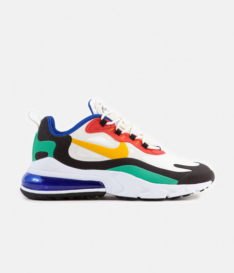 save off 0267a 3e77e Nike Air Max 270 React Shoes - Phantom   University Gold - University Red