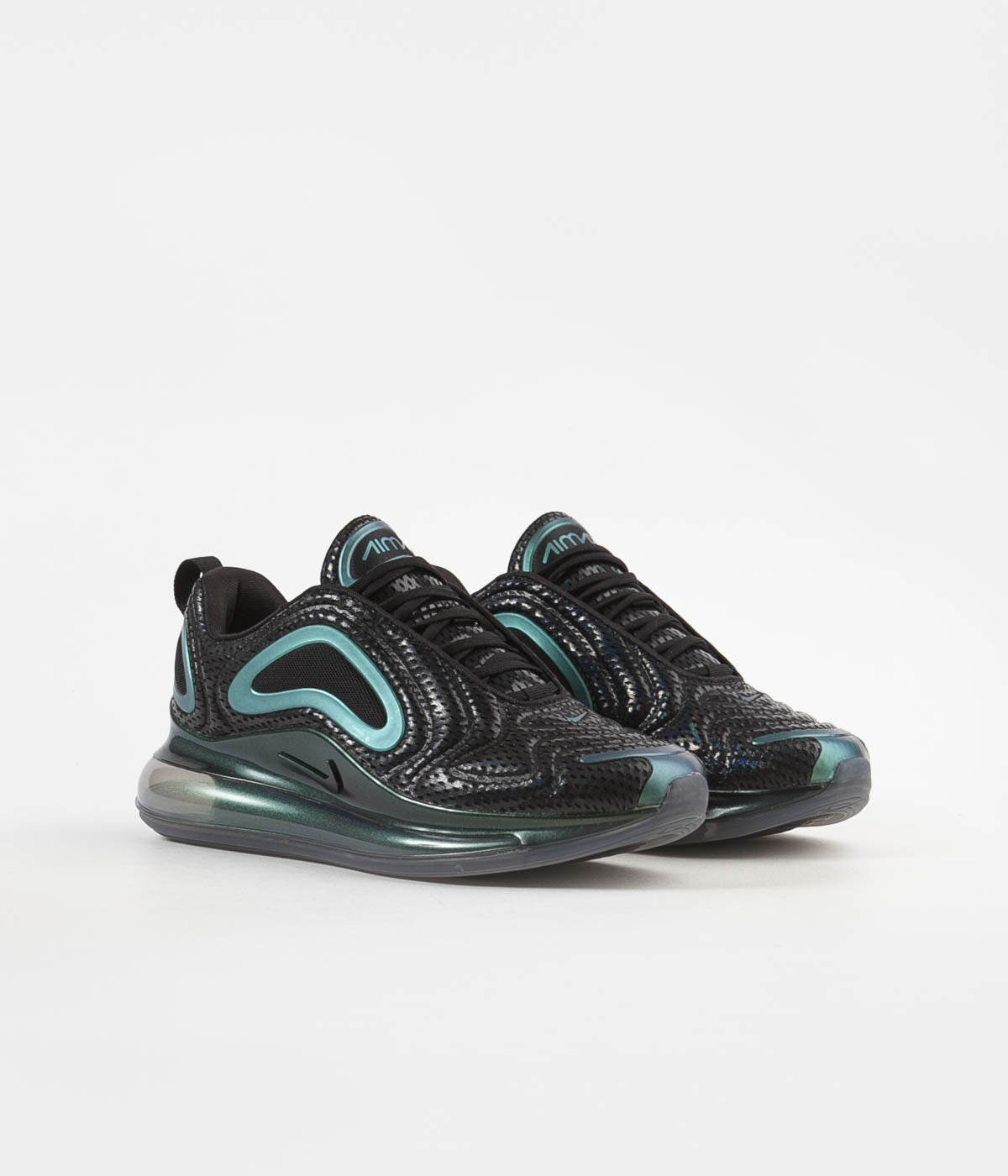 check out 4e4fc db489 ... Nike Air Max 720  Iridescent Mesh  Shoes - Black   Black - Metallic  Silver ...
