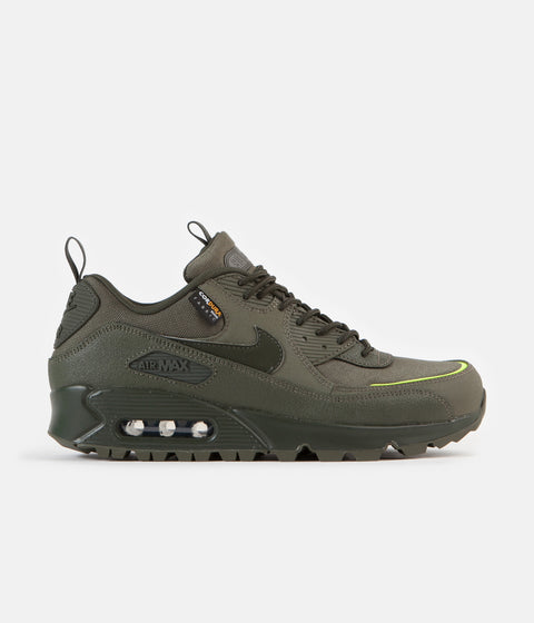 Nike Air Max 90 Surplus Shoes - Cargo Khaki / Sequoia / Lemon Venom