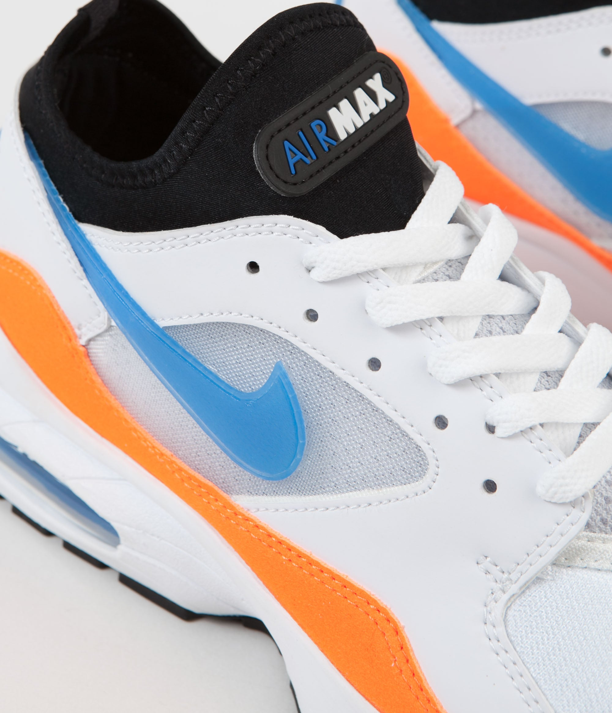 3470dc8af688 ... Nike Air Max  93 Shoes - White   Blue Nebula - Total Orange - Black ...